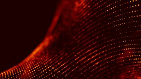 Wave of red particles. Abstract fire background with a dynamic wave. 3d rendering. Wave of red particles. Abstract fire background with a dynamic wave vector illustration
