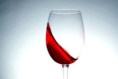 Wave of red wine close up Stock Photos
