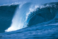 Wave on reef Stock Images