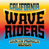 Wave riders t shirt graphics rainbow Stock Photos