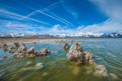 Wave Ripples in Mono Lake Stock Photography