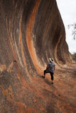 Wave Rock Formation, Elachbutting Rock, Western Australia. Elachbutting Rock, Western Australia. Little known, although smaller, but just as spectacular as the Royalty Free Stock Photos