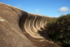 Wave rock. Geological rock formation at Western Australia royalty free stock photography