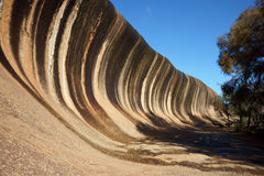 Wave Rock. Geological rock formation in Western Australia royalty free stock photos
