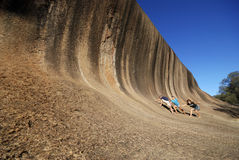 Wave Rock, near Hyden in Western Australia Royalty Free Stock Images