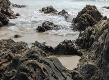 Wave And Rock Stock Photography