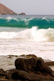 Wave and rock Royalty Free Stock Photography