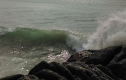Wave and rock Stock Image