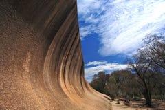 Wave Rock,Western Australia. Wave Rock, natural rock formation, Hyden, Western Australia royalty free stock photography