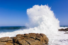 Wave Rocks Exploding Water Stock Photos