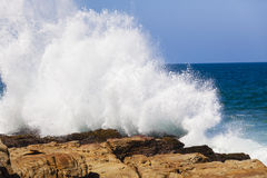 Wave Rocks Exploding Water Royalty Free Stock Images