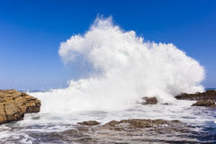 Wave Rocks Exploding Water Stock Images