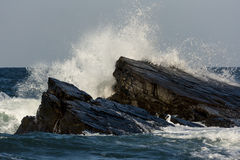 Wave & The Rocks Royalty Free Stock Photography