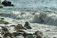 The wave rolls on coast Royalty Free Stock Photo