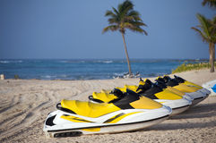 Wave runner near Cancun Stock Image