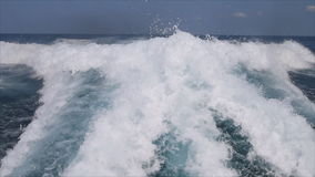 Wave from ruuning ferry Royalty Free Stock Photography