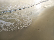 Wave on sand. Sea wave on sand background Stock Images