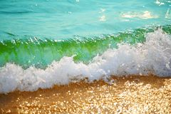 Wave on sand Royalty Free Stock Photography