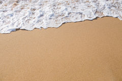 Wave on the sand Stock Image