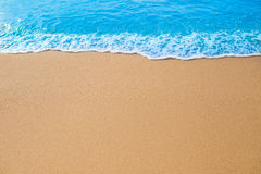 Wave on the sand. Royalty Free Stock Photos