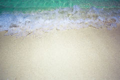 Wave & Sand beach background Royalty Free Stock Photo