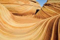 The Wave, sandstone in Coyote Buttes North (Arizona) Stock Image