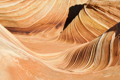 The Wave, sandstone in Coyote Buttes North (Arizona) Royalty Free Stock Image