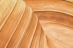 The Wave, sandstone in Coyote Buttes North (Arizona) Stock Photography