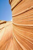 The Wave, sandstone in Coyote Buttes North (Arizona) Royalty Free Stock Photography