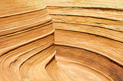 The Wave, sandstone in Coyote Buttes North (Arizona) Royalty Free Stock Photo