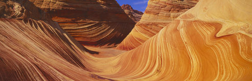 The Wave, Sandstone Formation, Kenab, Utah Stock Image