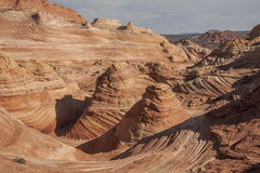 Wave06. The Wave, sandstone recreation area in Utah Stock Photography