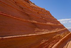 The Wave. Sandstone swirl Coyote Buttes Paria Canyon-Vermillion Cliffs Wilderness Area, Arizona, USA Stock Image