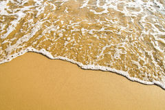Wave on  sandy beach Royalty Free Stock Image