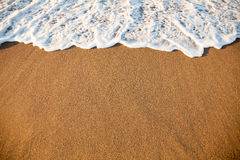 Wave on sandy beach Stock Photography