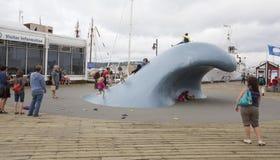 The wave sculpture in halifax nova scotia Stock Images