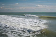 Wave in the sea. Low wave in the sea during inflow Royalty Free Stock Image