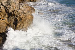 Wave on sea. As background Royalty Free Stock Photo