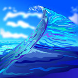 Wave at the sea Stock Image