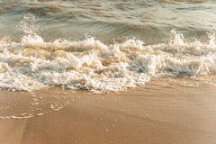 Wave of sea. Wave of the bad sea on the sand beach Royalty Free Stock Image