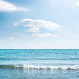 Wave on sea and blue sky Royalty Free Stock Photography
