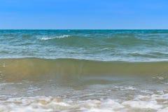 Wave on the sea coast line Royalty Free Stock Image