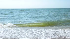 Wave on the sea, ocean. Beach. Wave on the sea, ocean. Beach Full HD stock footage