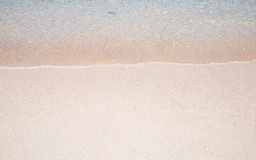Wave of the sea on the sand beach Royalty Free Stock Photos