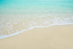 Wave Sea on the sand beach Royalty Free Stock Image