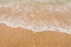 Wave of the sea on  sand beach Royalty Free Stock Photo