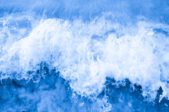 Wave of the sea on the sandy beach Royalty Free Stock Photography