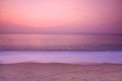 Wave Sea Sky. In morning long-exposure Stock Photography
