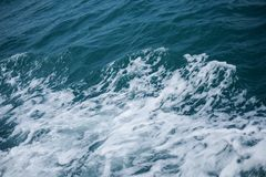 Wave in sea Splashing. High angle stock photography