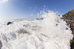 Wave Sea Water Crashing Rocks Beach Stock Images
